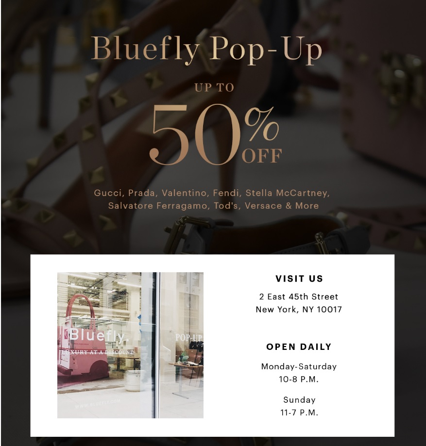1e58394a2 BLUEFLY.COM Launches Their First Pop-Up Shop in NYC | Hi-tech Chic