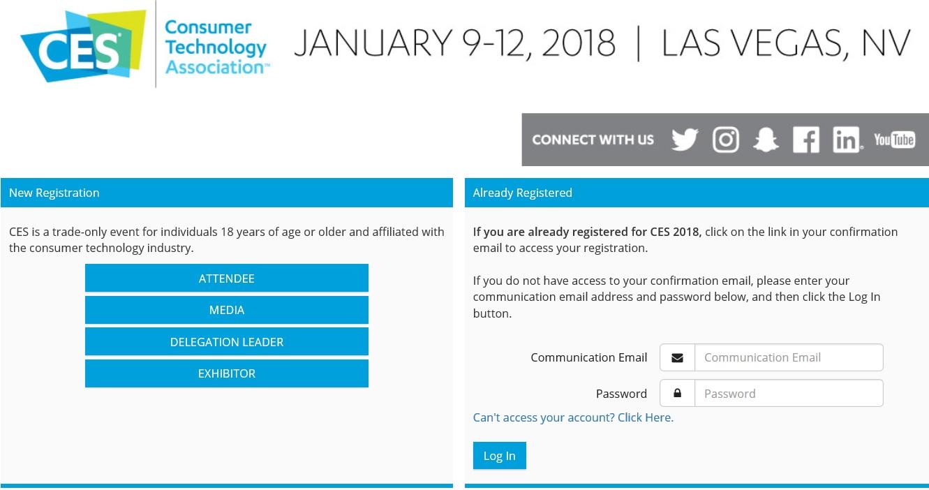 CES Registration