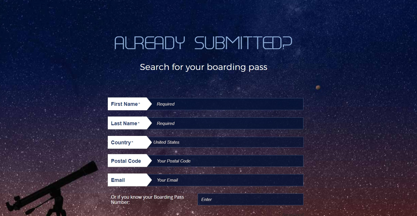 NASA Already Submitted