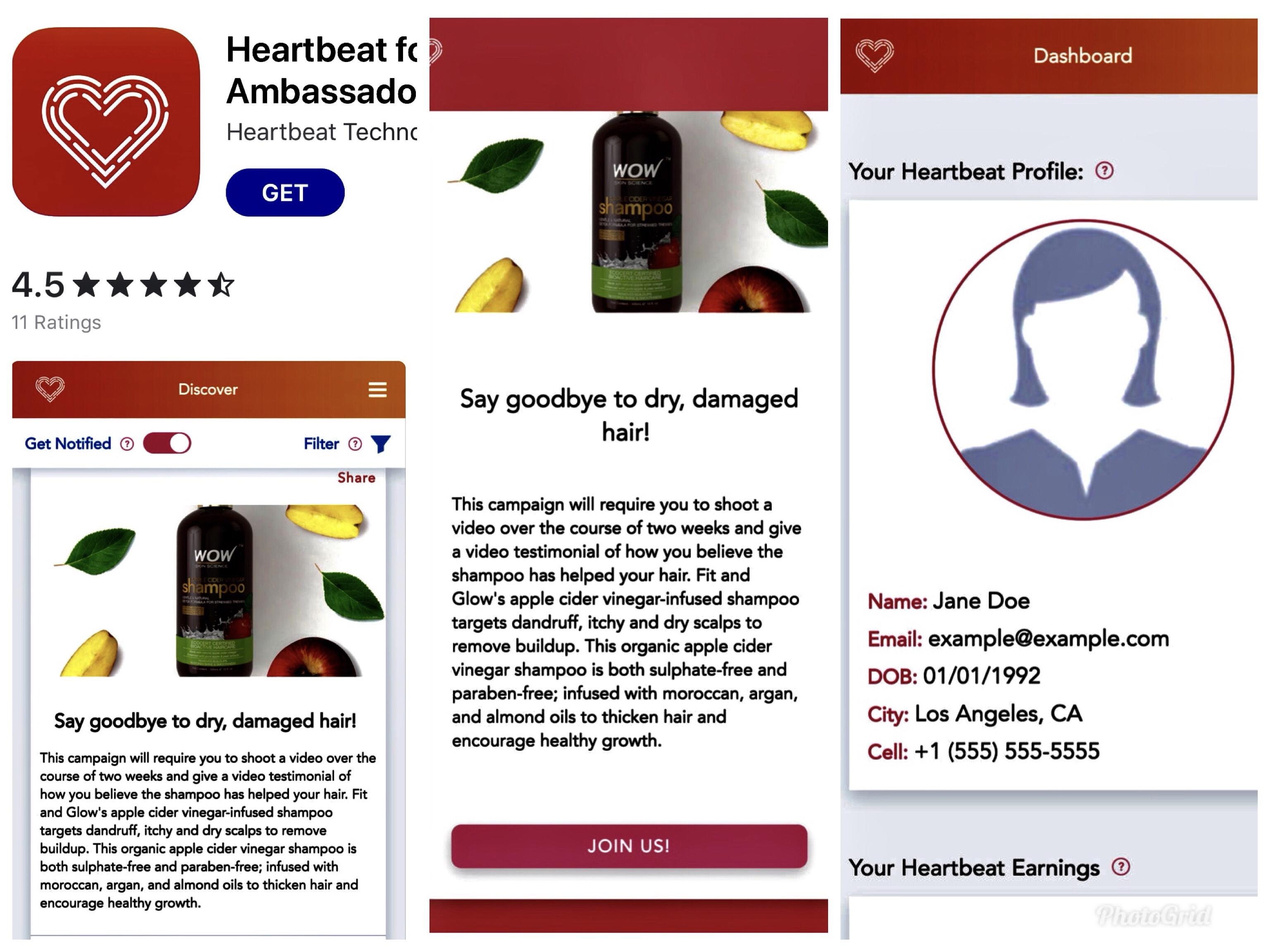 Heartbeat screen