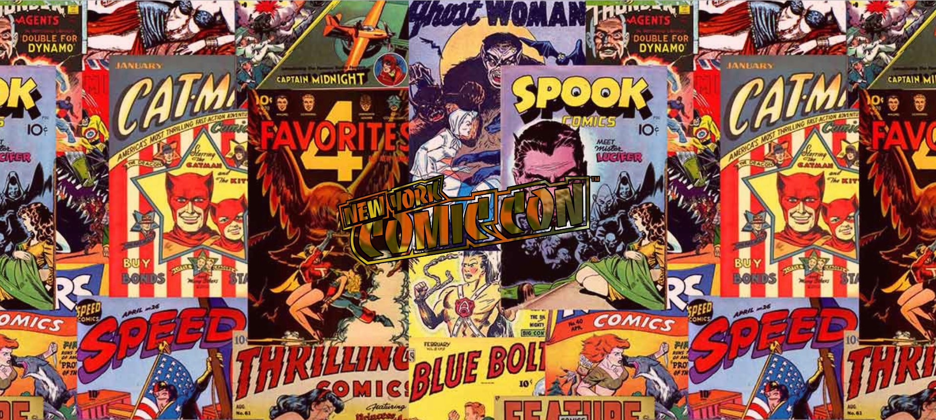 NYC Comic Con Front Comic Books Logo