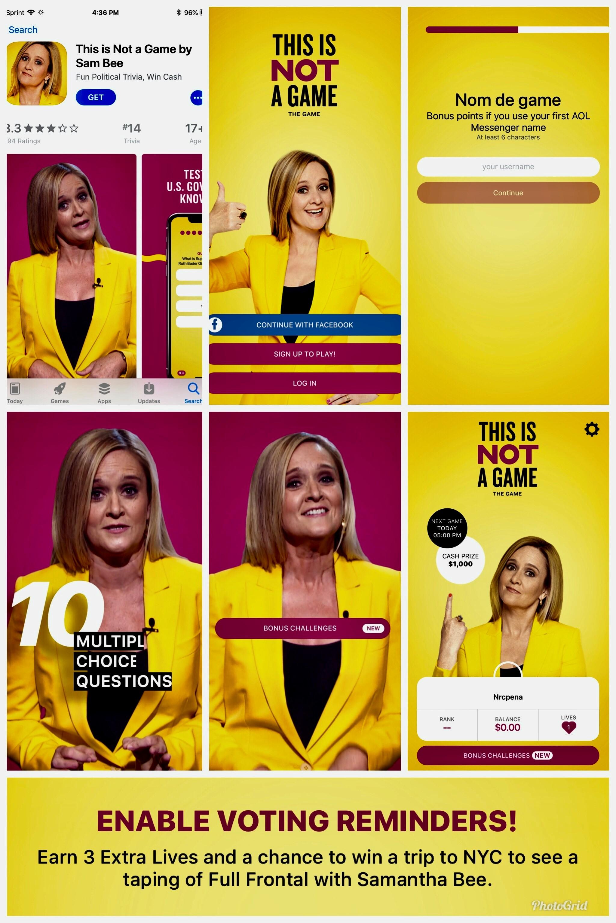 Samantha Bee App 2018 Nina