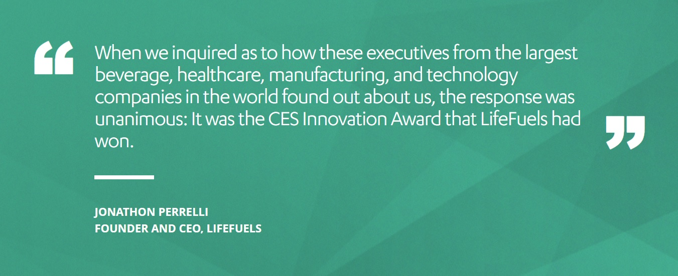 CES 2019 Innovation Awards quote