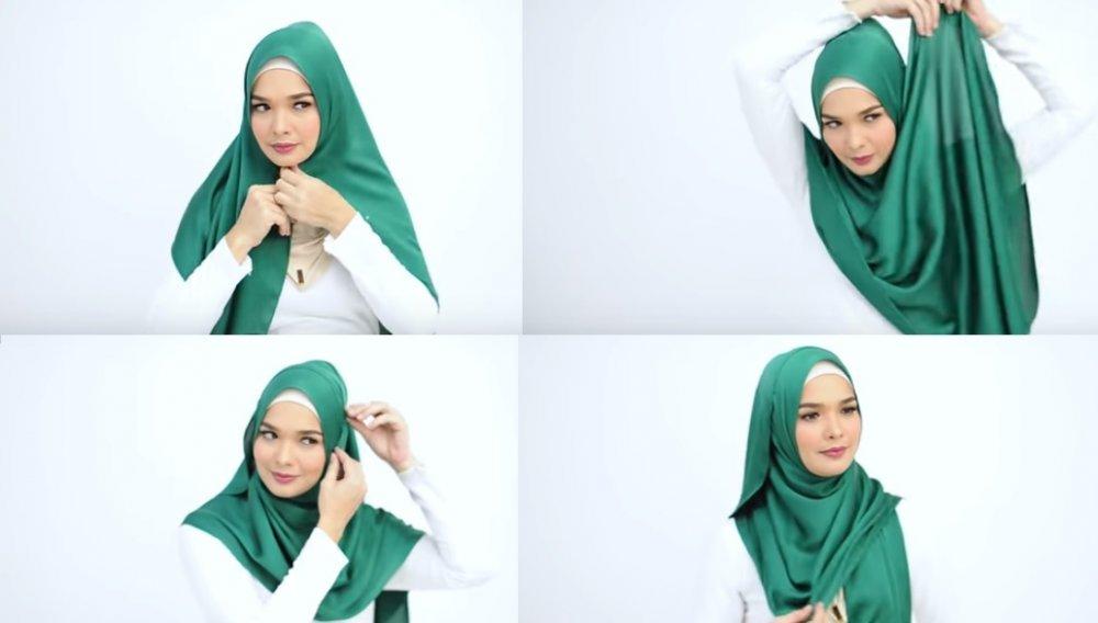 أجمل طرق لفات حجاب الساتان مجلة هي