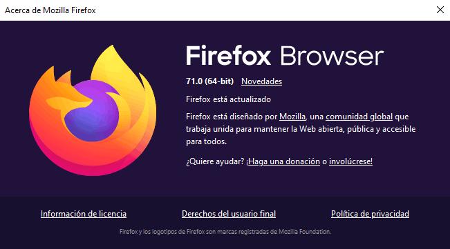 Firefox 71.0: trae Picture-in-Picture para los vídeos y nuevo diseño en about:config