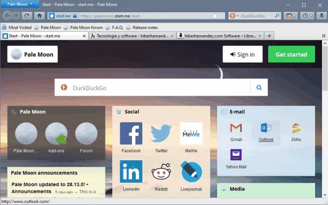 Pale Moon 29.2.0 deja de ser compatible con las extensiones heredadas de Firefox