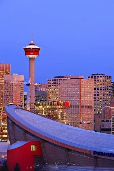 Photo:  Saddledome Calgary City Tower Skyline Picture