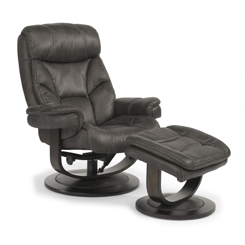 Flexsteel 1452 CO West Fabric Chair And Ottoman Discount
