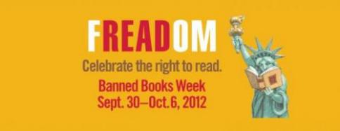 ALA, freadom, freedom to read, banned books week, 2012, banner, liberty, books