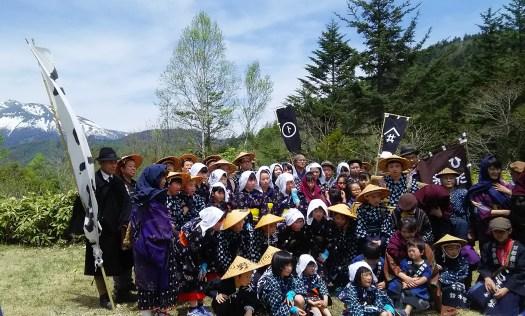 糸引き工女行列参加者 奈川、高根