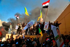 Iraqi's Storm US Embassy In Baghdad