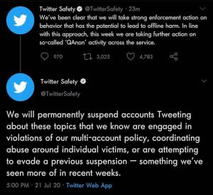 Twitter Bans all Qanon accounts