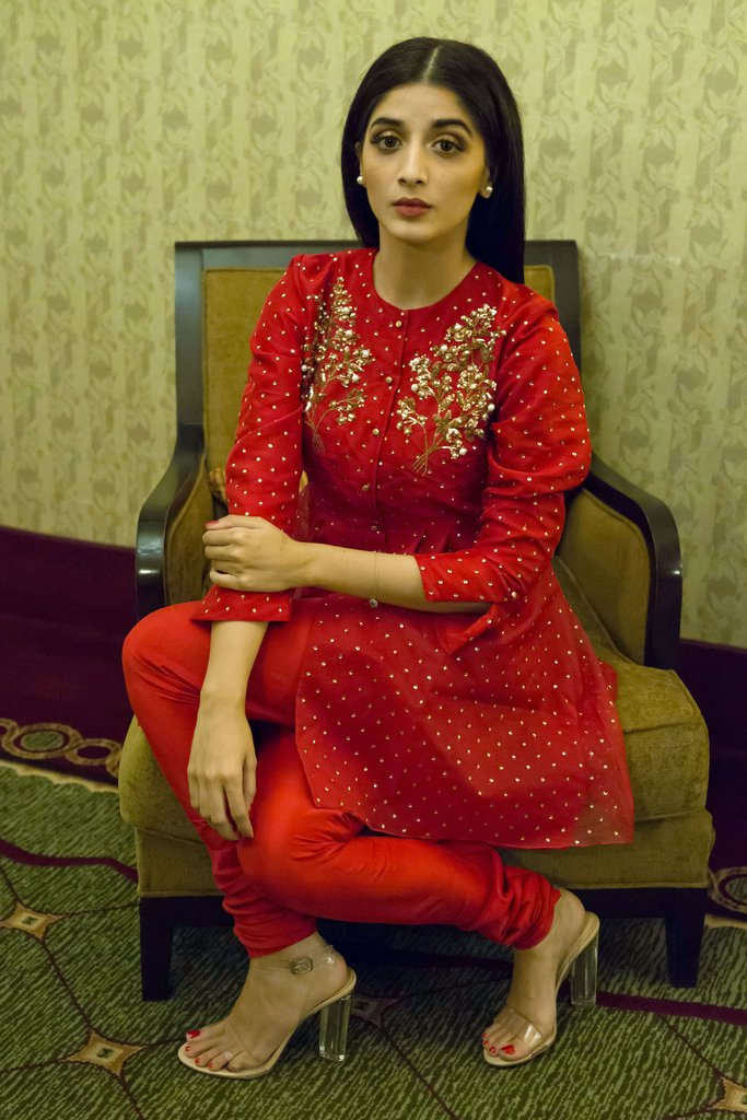 Mawra Hocane beautiful red dress
