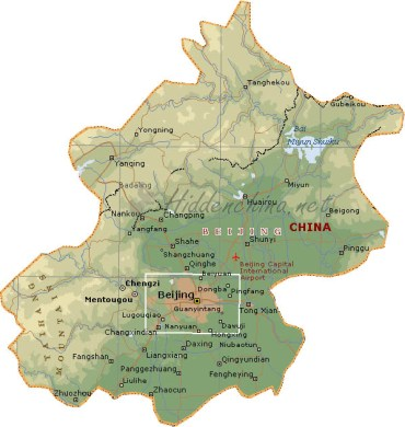Hidden China GmbH   Map of Beijing  China Map of Beijing  China