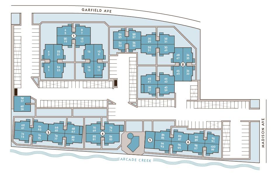 Hidden Creek Apartments Site Map