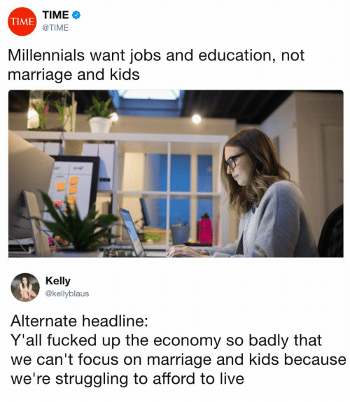 Millennials Want Jobs and Education Instead of Kids... Or Do They?