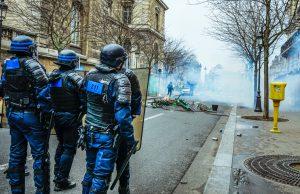 Cops Protest In Paris