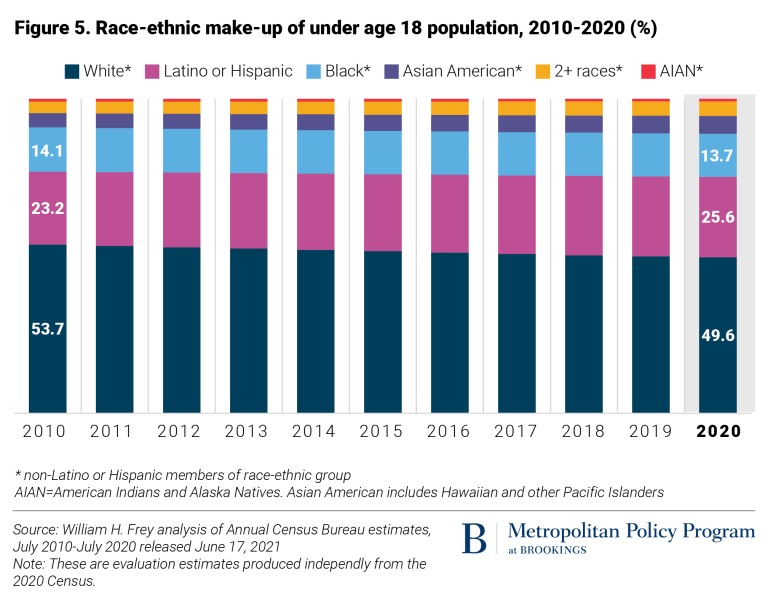 demographic destiny of the united states - chart showing the demographic transitions