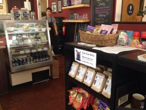 Hidden Fortress coffee for sale at Second Street Cafe in Watsonville