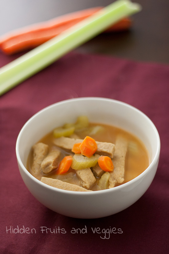 No-Chicken and Homemade Noodle Soup