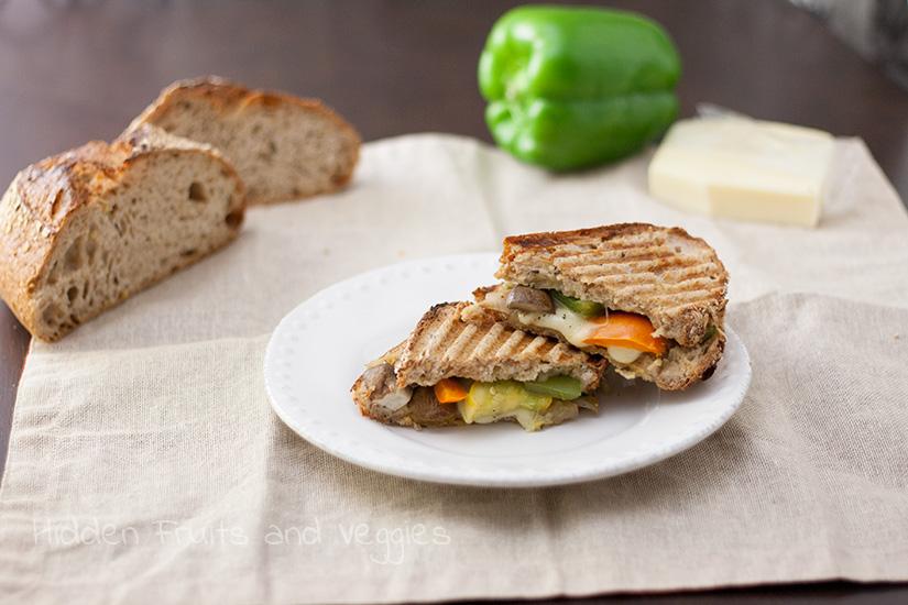 Mozzarella, Veggie, and Pesto Sandwich