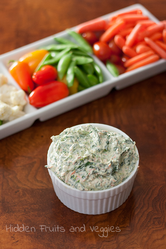 Lightened Spinach Dip