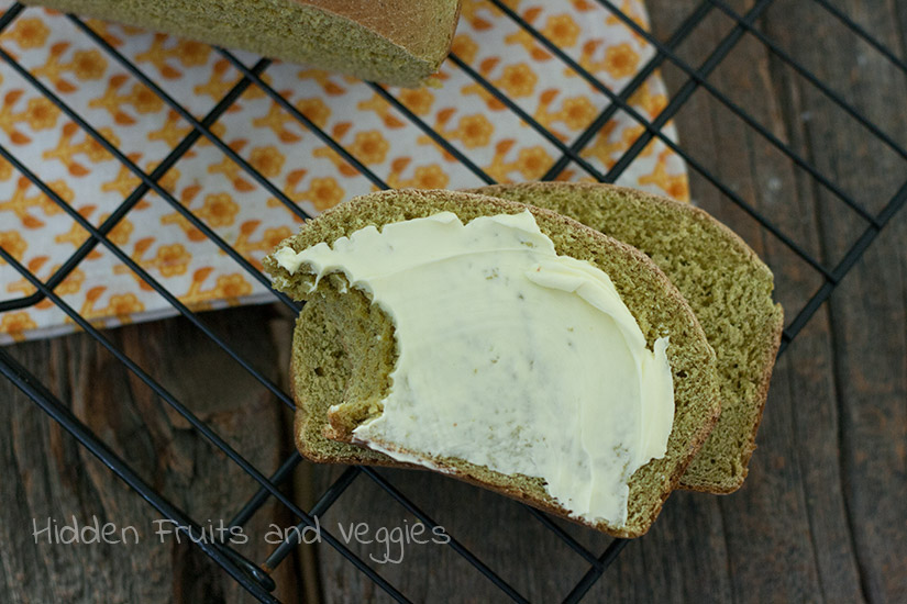 Whole Wheat Spinach Bread from @hiddenfruitnveg