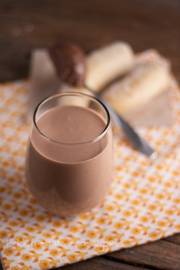 Chocolate Banana Milk @hiddenfruitnveg