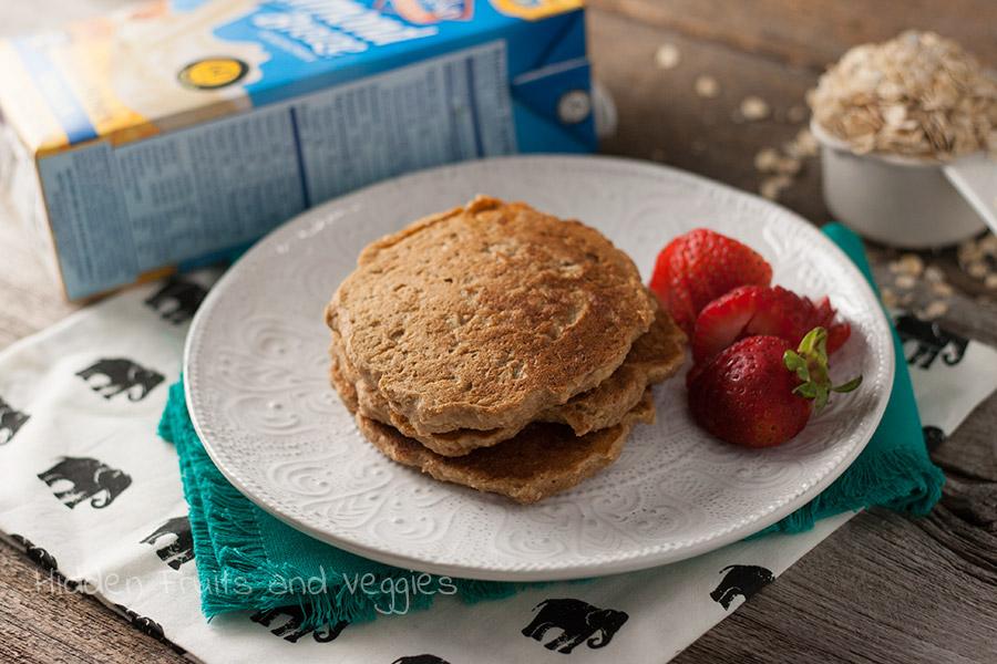 Overnight Oatmeal Cookie Pancakes @hiddenfruitnveg