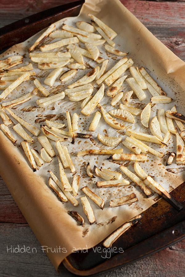 Oven Roasted Turnip Fries @hiddenfruitnveg