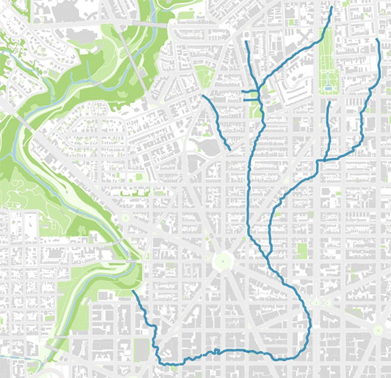 Hidden Rivers of Washington DC – Hidden Hydrology on map of dc highways, map of dc transit, map of dc airport locations,