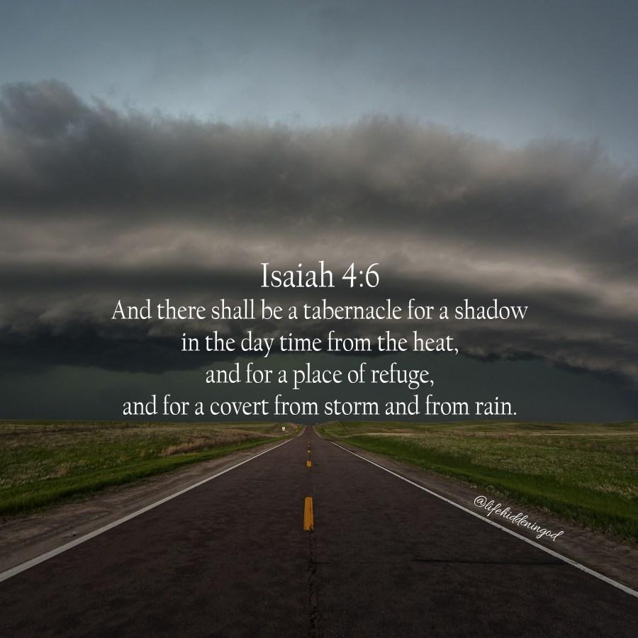 Isaiah 4:6 scripture