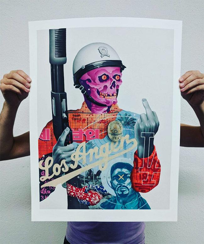 """Los Anger"" print by Tristan Eaton"