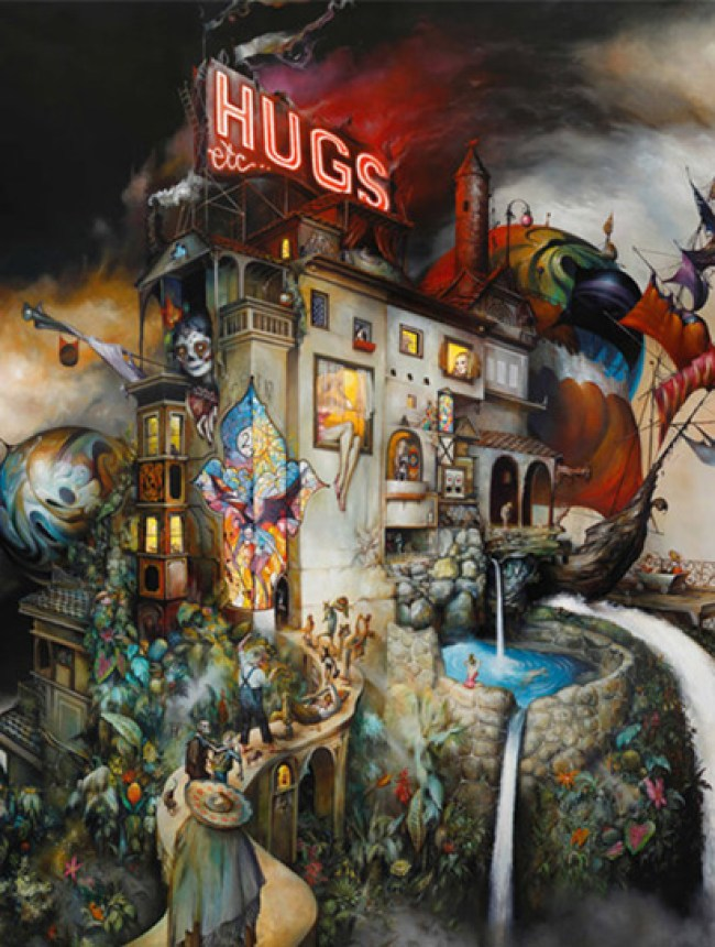 "HUGS etc…"" print by Esao Andrews"