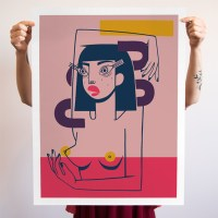 """Lost In It"" Pink Variant print By Jillian Evelyn"