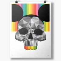 """""""Grey Skull"""" print by okuda"""