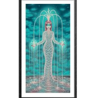 """Fractal Fountain - Oversized"" print by Tara McPherson"