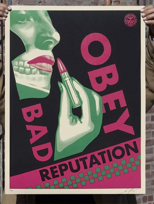 Bad Reputation (Black) print by Shepard Fairey