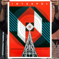 """Interpol NYC Calling"" new print by Shepard Fairey"