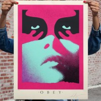 """Obey shadowplay Blue "" new print by Shepard Fairey"