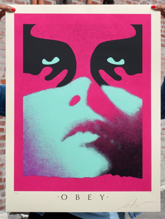 Obey shadowplay Blue new print by Shepard Fairey