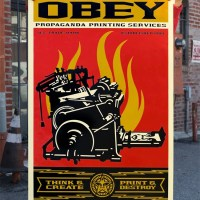"""Print & Destroy"" new print by Shepard Fairey"