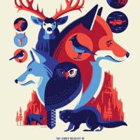 """Iconic Wildlife of Yosemite National Park"" new print by Tom Whalen"
