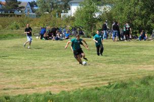 Spieler beim Herrentagfußballturnier auf Hiddensee 2015