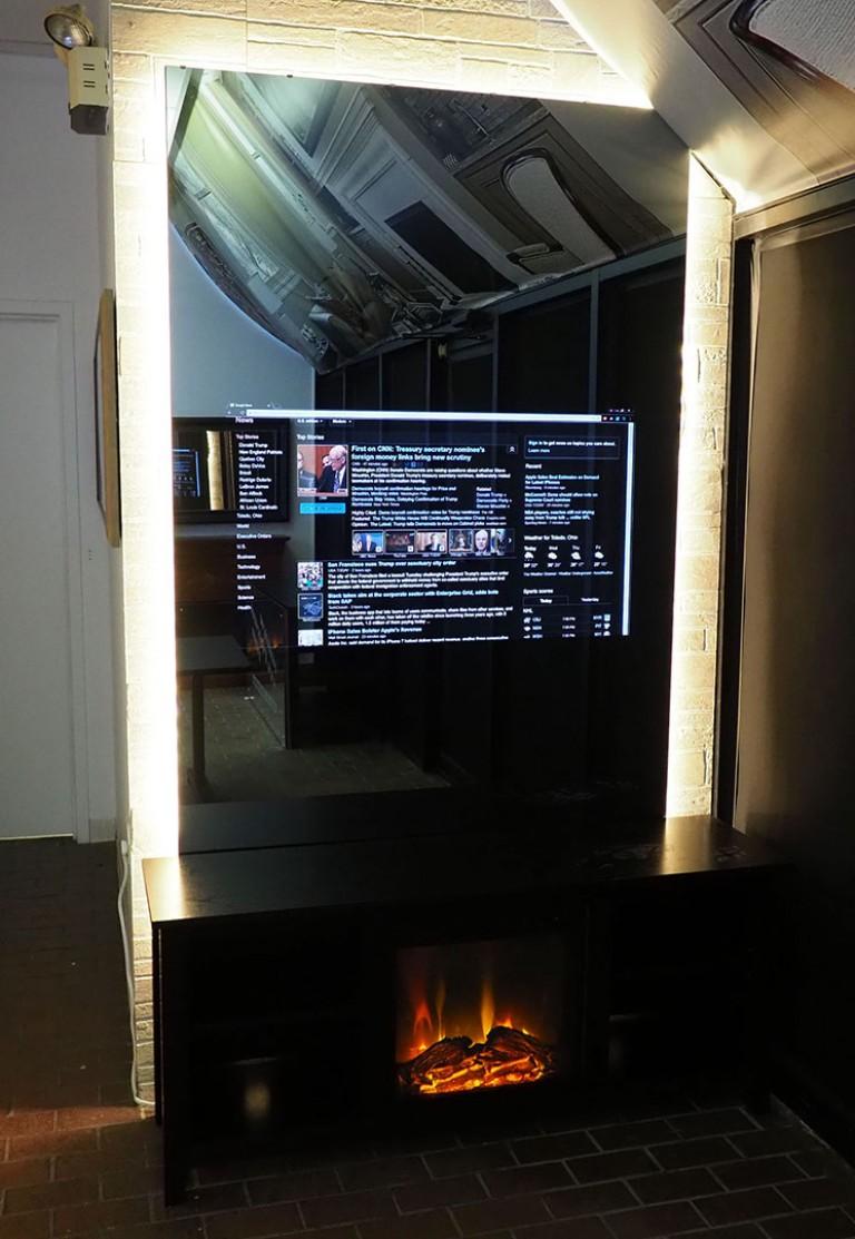 Smart Mirror in Hidden Television Showroom