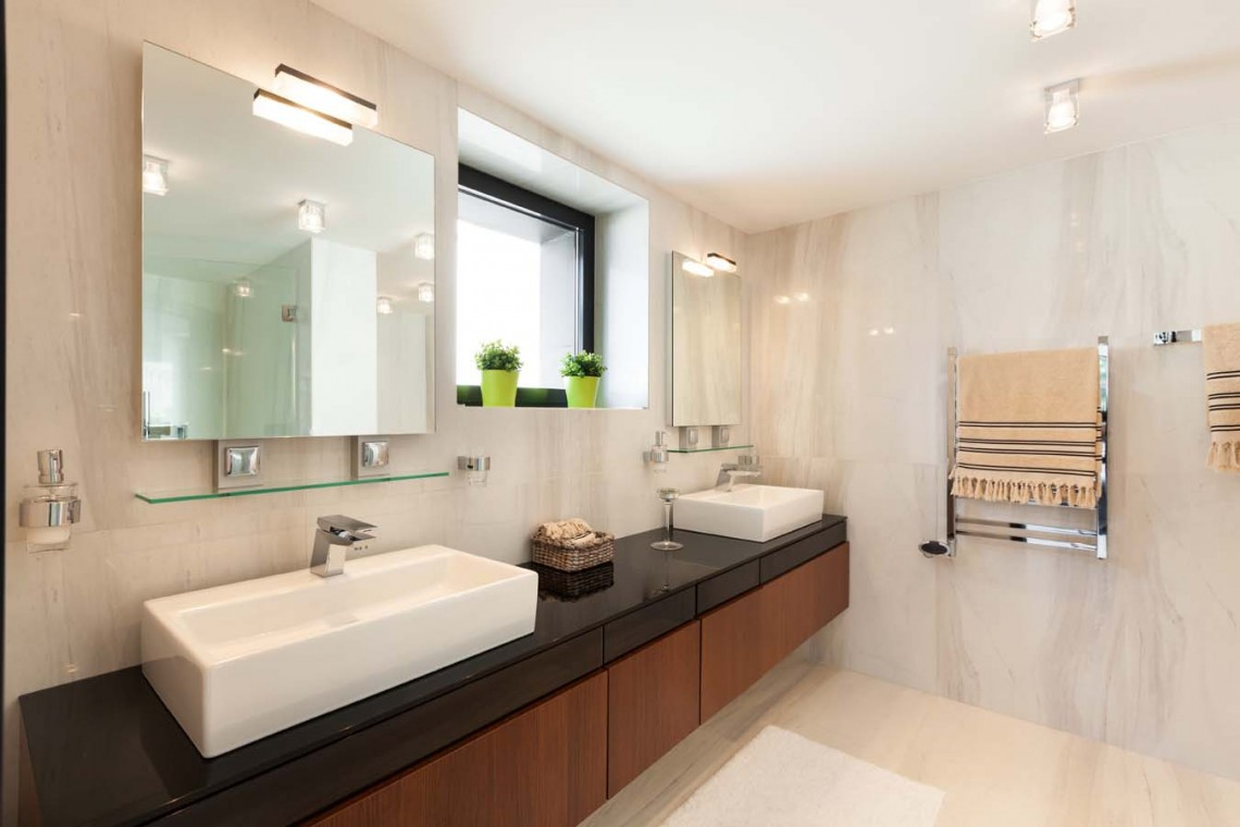 square-vanity-mirror-tv-marble-bathroom