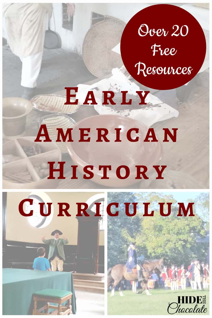 Early American History Curriculum - Over 20 Free Resources
