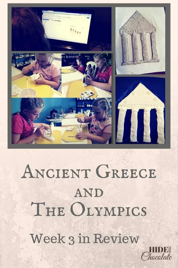 Ancient Greece and the Olympics Unit Study Week 3 in Review