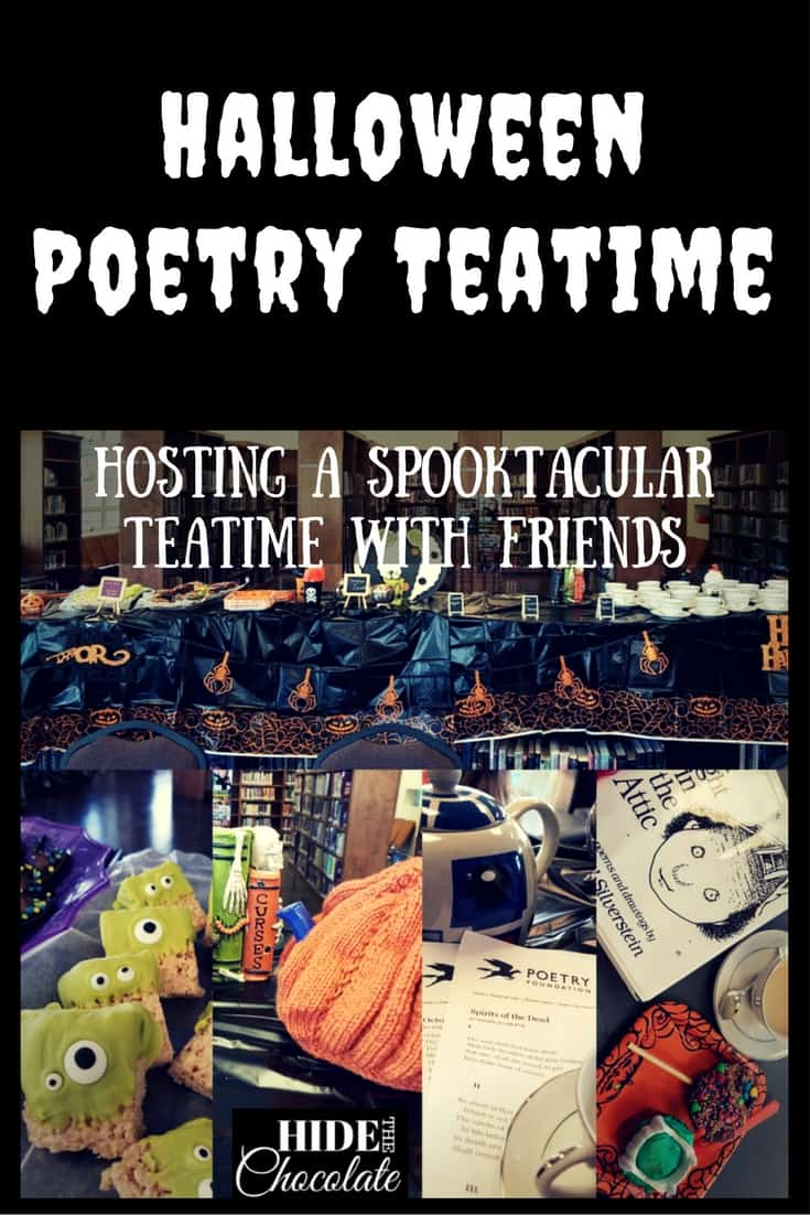Pumpkin Spice Tea, Edgar Allen Poe, Ghoulish Treats and Creative Costumes all make for a fun and spooky Halloween Poetry Teatime.