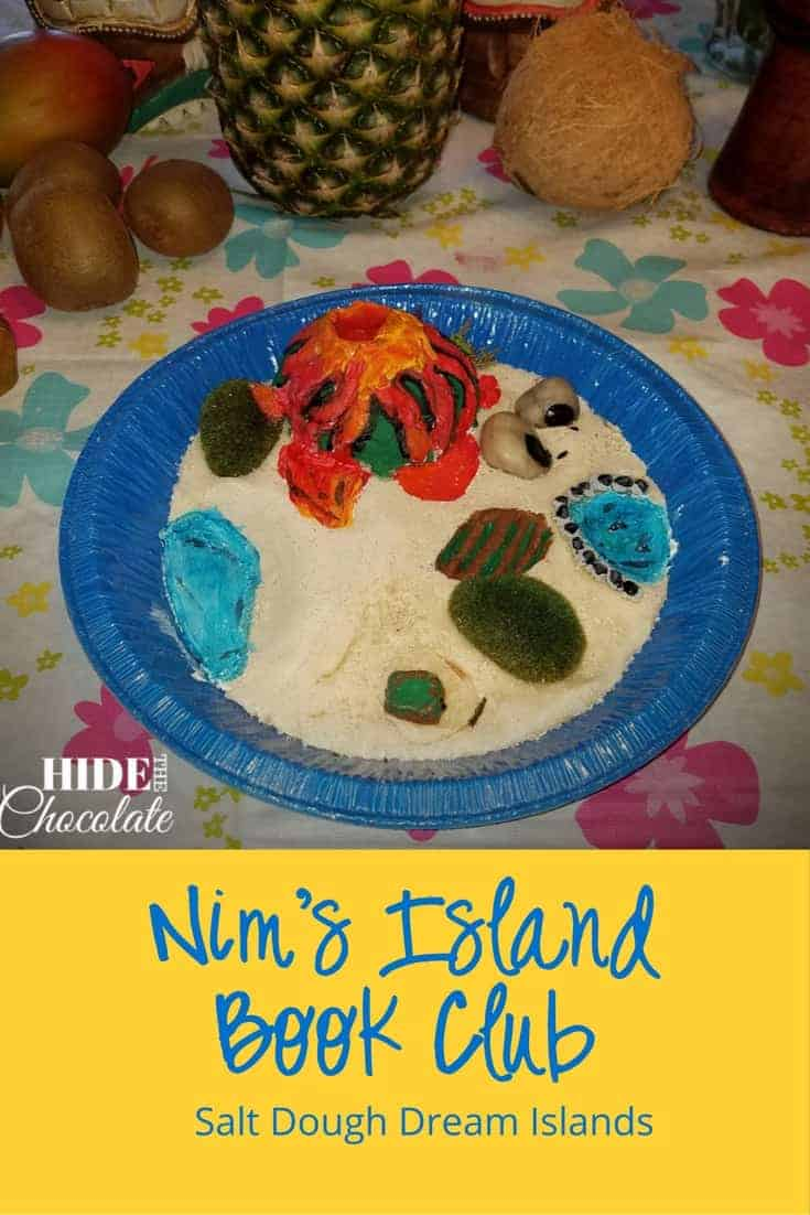 At our Nim's Island book club, the girls imagined life on their own secret island. Then they designed and built an island using an easy salt dough recipe. All while eating crab legs and mangos.